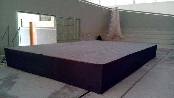 Locação de palco pequeno